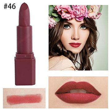 Women Matte Lipstick, Lotus.flower 20 Colors Available Sparkle Lip Gloss Moisturizing & Velvety Lip Color Charming Face Cosmetics Makeup Tool