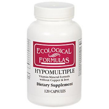 Hypomultiple without Cu/Fe 120 caps by Ecological Formulas
