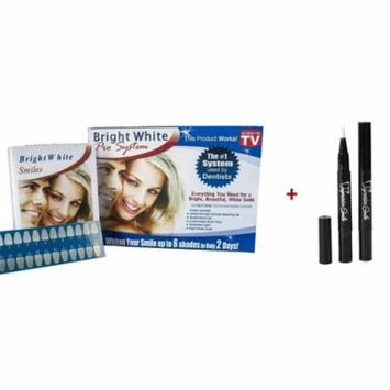 Impressive Bright White Smile Professional Strength Teeth Whitening Kit for At-Home and In-Office Use and Teeth Whitening Pens 2/PACK – 60 Day Supply
