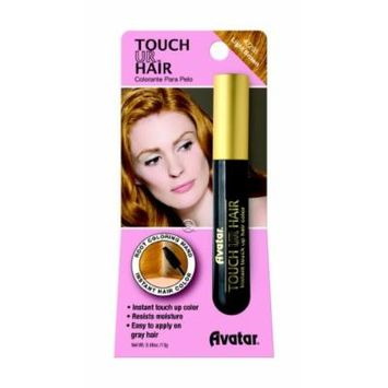 Avatar Touch Ur Hair Root Coloring Wand #7208 Light Brown, Hair applicator, easy to use, resists moisture, no water, women, touch up stick, instant color