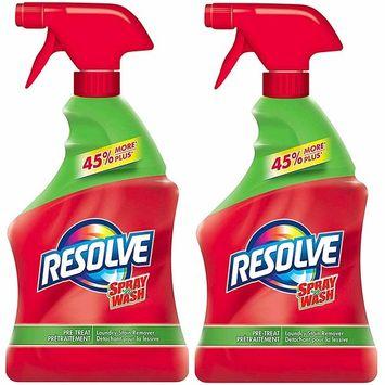 Resolve Spray 'n Wash Pre-Treat Laundry Stain Remover Spray, 2 Pack x 32 Fl.oz / 946ml, Total 64 Fl.Oz