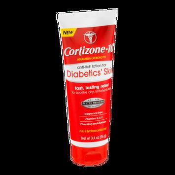 Cortizone-10 Anti-Itch Lotion For Diabetics' Skin Maximum Strength