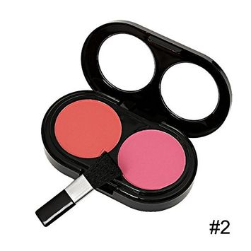 Blusher Palette with Make Brushes,4-shade Makeup Cosmetic Blush Blusher (2)