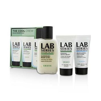 The Cool Crew Shave Essentials Kit: Multi-Action Face Wash 30ml + Cooling Shave Cream 30ml + Razor Burn Relief Ultra After Shave Therapy 100ml 3pcs