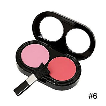 Blusher Palette with Make Brushes,4-shade Makeup Cosmetic Blush Blusher (6)