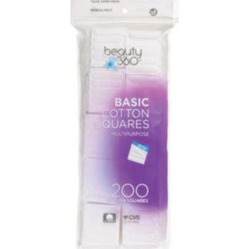 Beauty 360 Basic Cotton Squares, 200CT