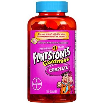 3 Pack - Flintstones Gummies Complete, 180 Count Each