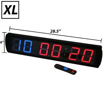 Iheartsynergee Synergee XL Premium LED Programmable CrossFit Interval Wall Timer Gym Clock with Wireless Remote