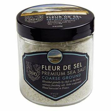 Ojio Fleur De Sel Sea Salt - Coarse Ground - 12 oz