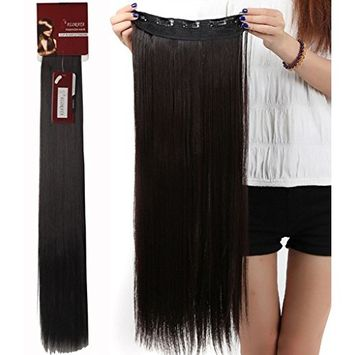 Haironline 3-5 Days Delivery 26 Inch 3/4 Full Head Curly Straight Clips in on Synthetic Hair Extensions for Women 5 Clips