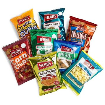 Herr's 8-Flavor Variety Snack Pack (45.75 Total Ounces), Assorted Bags (Pack of 42)
