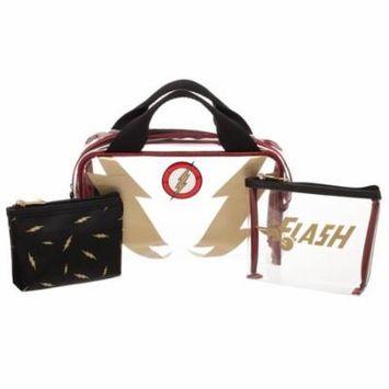Cosmetic Bag - Flash - 3 Pcs Travel Set New Licensed xb6r4ndco