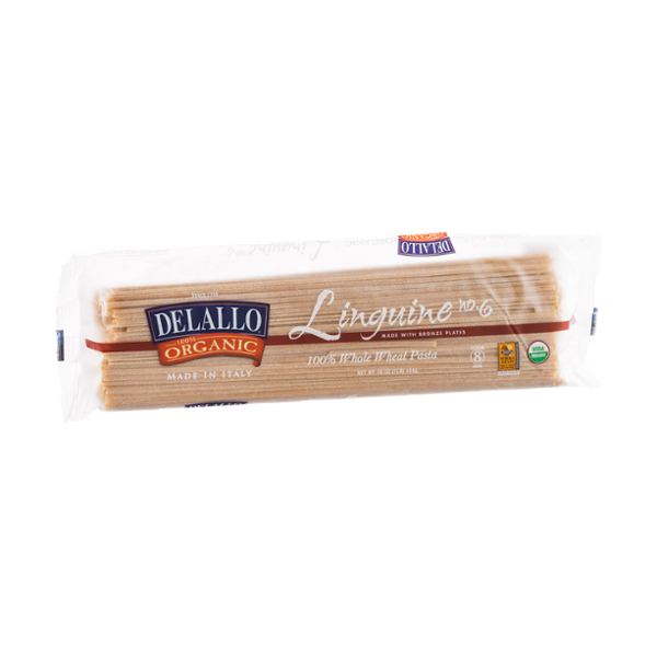 Delallo 100% Organic Whole Wheat Pasta Linguine