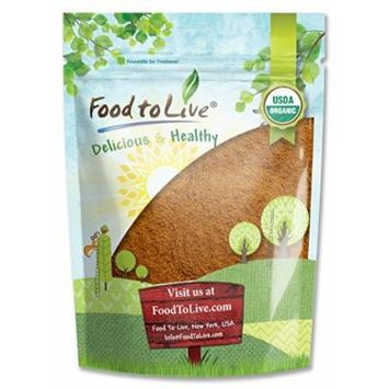 Food to Live Certified Organic Cocoa Powder (Natural, Non-Dutched, Non-GMO, Unsweetened, Fair Trade, Bulk) (2 Pounds)