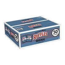 Frito Lay Ruffles Original Potato Chips - 50/1 oz. Bags