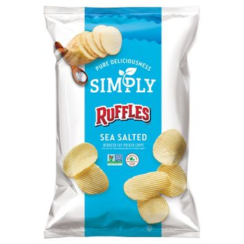 Frito Lay Simply Ruffles Sea Salted Reduced Fat* Potato Chips 8.5 oz