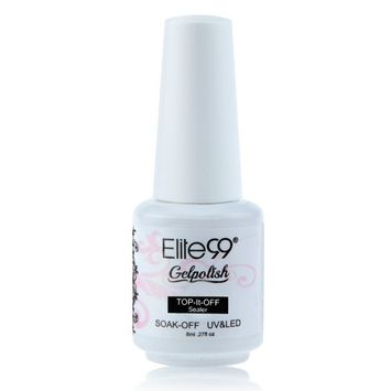 Elite99 Gelpolish Soak-off Gel Nail Polish UV LED Top Coat Clear 8ml