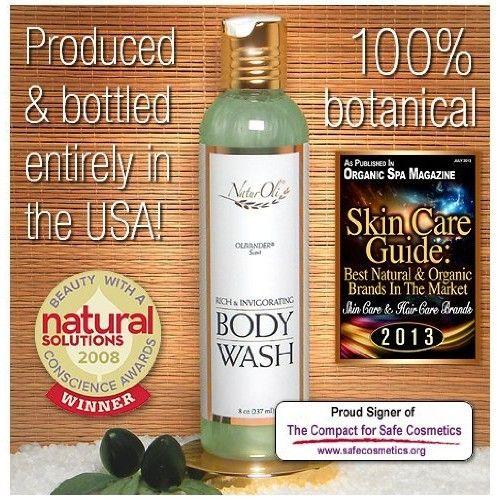 NaturOli Rich & Invigorating Body Wash - 8 oz. Award winning formulation! Luxurious for bath or shower. Wonderfully natural unisex scent. Calming & uplifting. - Sulfate & Gluten free! - Made in USA!