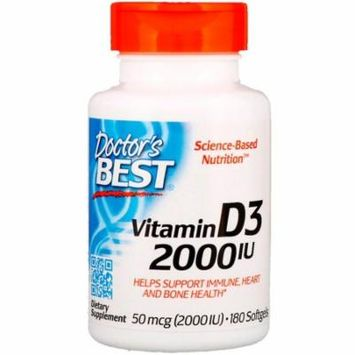 Doctor's Best, Vitamin D3, 2,000 IU, 180 Softgels(Pack of 6)