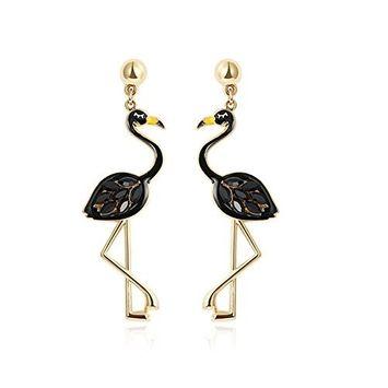 Auch A Pair of Ostrich Dangle Earrings, Fashion Earrings for Women Girls