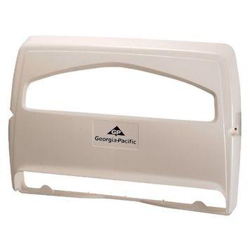 Georgia Pacific 57710 Safe-T-Gard 1/2 Fold Toilet Seat Cover Dispenser, White