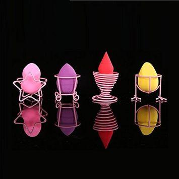 Auch Set of 4 Beauty Blender Holder, Beauty Sponge Blender Holders, Makeup Beauty Stencil Powder Puff Sponge Display Stand Drying Holder Rack, Pink
