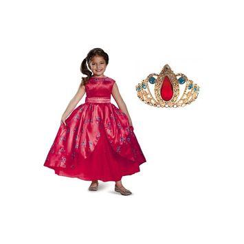 Disney Elena of Avalor Girls Dress and Tiara Set