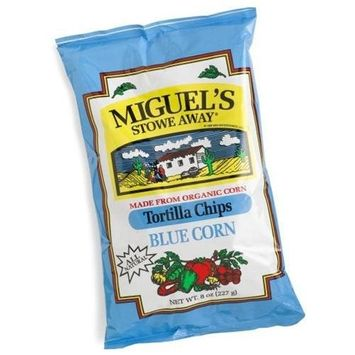 Miguels Miguel's Stowe Way Blue Corn Tortilla Chips, 8-Ounce Bags (Pack of 12)
