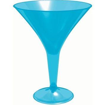 Blue Martini Glasses 8oz 20 Pk
