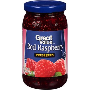 Great Value: Red Raspberry Preserves, 18 Oz