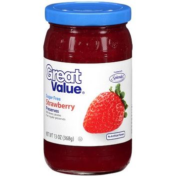 Great Value: Sugar Free Strawberry Preserves, 13 Oz