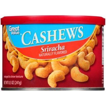 Great Value Cashews, Sriracha, 8.5 oz
