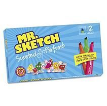 Mr. Sketch Scented Watercolor Markers, 12 Colors, 12/Set