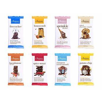 Chuao Chocolatier Chocolate Gift Set Mini Chocolate Bars 16 Piece Gift Set (.39 oz mini bars) (Milk & Dark Chocolate)