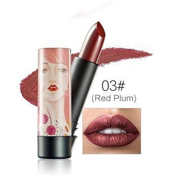 KISSBUTY Lipstick Liquid Gold Pearl Color Flash Powder Waterproof Lip Gloss Long Lasting Makeup (#3)