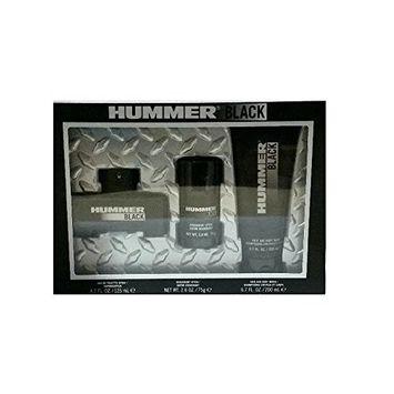 HUMMER BLACK (M) 3PC GIFT SET: HUMMER BLACK 125ML EDT SPRAY + DEO STICK + HAIR & BODY WASH 200ML (SOFT BOX WINDOW)
