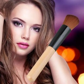 New Arrival Flat Angled Wooden Liquid Foundation Powder Contour Makeup Brush Tool