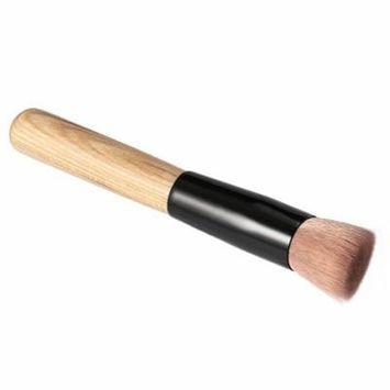 Professional Soft Fiber Angled Flat Top Foundation Powder Brush Cosmetic Tool
