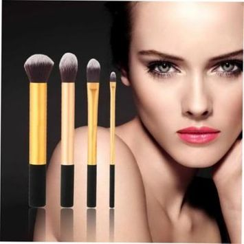 4pcs Professional Cosmetic Makeup Brush Powder Foundation Face Brushes