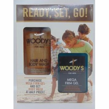 WOODY'S HAIR AND BODY WASH / WOODY'S MEGA FIRM GEL SET FOR MEN