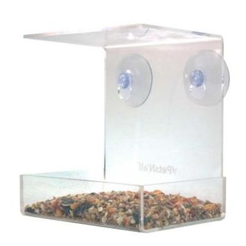 Aspectek Acrylic Clear View Window Bird Feeder