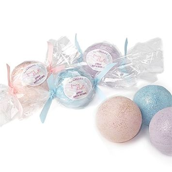 Cupcakes & Cartwheels Glitter Bath Bomb- assorted colors sold separately