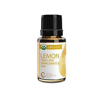 Rocky Mountain Oils - Organic Lemon - 15 ml - 100% Pure and Natural Essential Oil