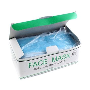 50pcs Disposable Blue Surgical Earloop Face Mask Flu Medical Salon Dust Cleaning Mouth Cover