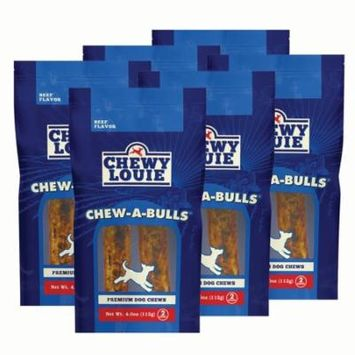 CHEWY LOUIE Chew-A-Bull 2 Count 6pk - Flavor Packed for Picky Eaters, No Artificial Flavors, Long Lasting, and Superior Dental Support Dog Treats.