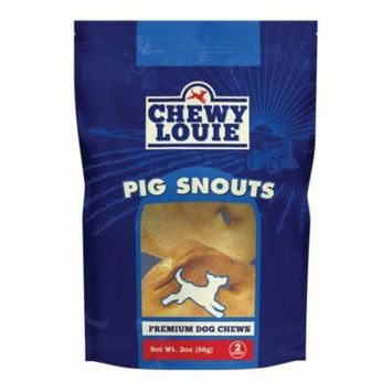 CHEWY LOUIE Pig Snouts 2 Count 1pk - One Ingredient, All Natural, No Artificial Flavors or Chemicals, Superior Dental Support Dog Treats.