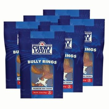 CHEWY LOUIE Bully Rings 3 Count 6pk - 100% Beef Treat, No Artificial Preservatives, Colors, or Flavors. Tough, Long-Lasting, and Dental Support Dog Treats.