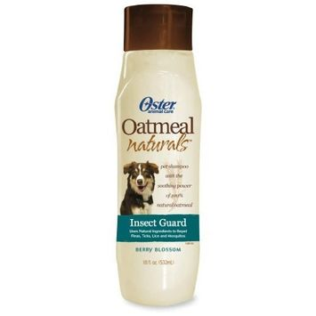 Oster Oatmeal Naturals Insect Guard Shampoo repeals fleas, ticks and mosquitos - dye and alcohol free- 18 fl oz