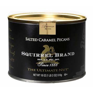 SQUIRREL BRAND Artisan Nuts, Salted Caramel Pecans, 18 oz Gift Tin [Salted Caramel Pecans]