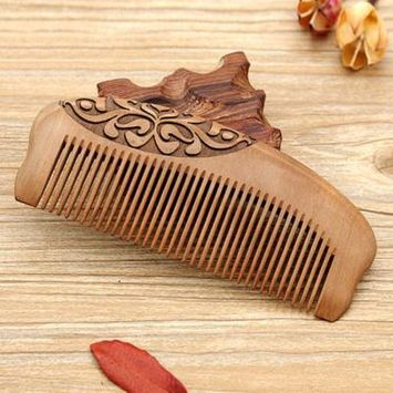 Hair Combs for Women, Coxeer Wood Hair Comb Portable Lightweight Household Wooden Massage Comb Small Wood Comb